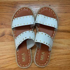 MIA White and Gold Sandal